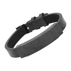 Armband Leder Carbon Element Schwarz