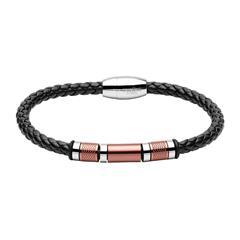 Armband für Herren aus Leder und Edelstahl