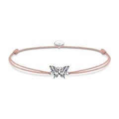 Little Secret Armband Schmetterling in Altrosa