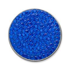 Münze für Münzanhänger Saphir blau