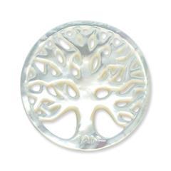 Münze für Münzanhänger Baum weiß