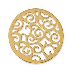 Münze Edelstahl Ornamente gelbgold