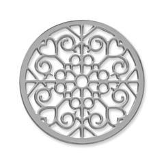 Münze Edelstahl Herzen Ornamente silber