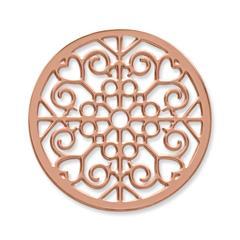 Münze Edelstahl Herzen Ornamente roségold