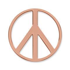 Münze Edelstahl Peace roségold