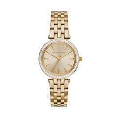 Uhr goldenem Edelstahl