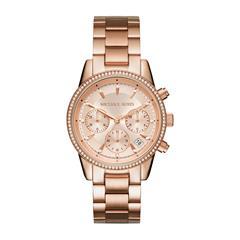Damen Chronograph Ritz aus Edelstahl, rosé