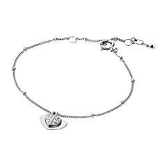 Herz Armband für Damen aus 925er Silber mit Zirkonia