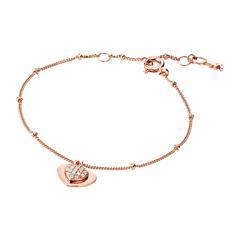 Damen Armband Herzen aus rosévergoldetem 925er Silber