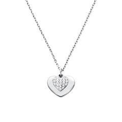 Damenkette Herzen aus Sterlingsilber mit Zirkonia