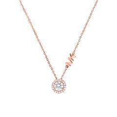 Halskette für Damen aus 925er Silber, rosévergoldet