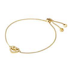 Armband Herz aus 925er Silber, vergoldet mit Zirkonia