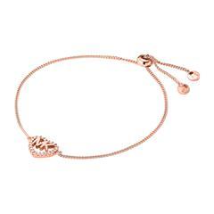 Damen Armband Herz aus 925er Silber, rosé mit Zirkonia