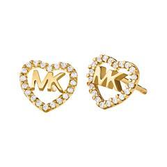 Damen Ohrstecker Herzen aus 925er Silber, vergoldet