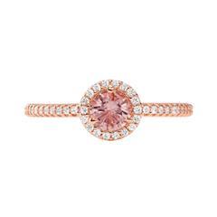 Damenring aus rosévergoldetem Sterlingsilber