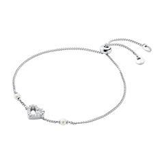 Herzarmband für Damen aus Sterlingsilber mit Zirkonia