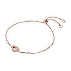 Damen Armband Herz aus 925er Silber, rosévergoldet