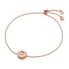 Armband für Damen aus rosévergoldetem Sterlingsilber