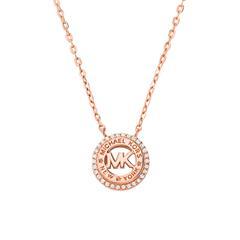 Halskette für Damen aus rosévergoldetem 925er Silber