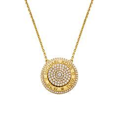 Halskette für Damen aus Sterlingsilber, vergoldet