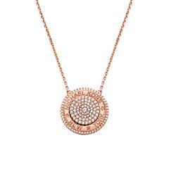 Halskette für Damen aus rosévergoldetem Sterlingsilber