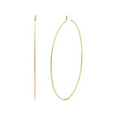 Hoop Ohrringe für Damen aus 925er Silber, vergoldet