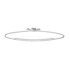 925er Silberarmband Premium für Damen mit Zirkonia
