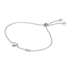 Damenarmband Herz aus 925er Silber mit Zirkonia