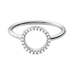925er Silberring Kreis für Damen mit Zirkonia