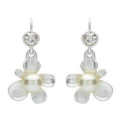 Ohrhänger in Blütenform Perlen Modeschmuck