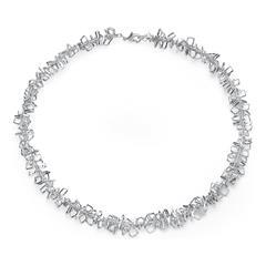 Damen Halskette mit Rechtecken