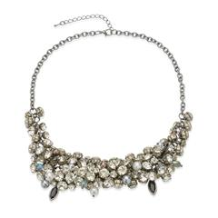 Üppige Statementkette Steine Perlen Modeschmuck