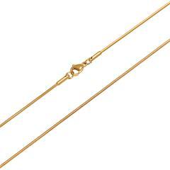 Hochwertige Schlangenkette Edelstahl vergoldet