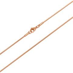 Hochwertige Schlangenkette Edelstahl rosé vergoldet