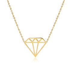 Kette Diamant aus vergoldetem Edelstahl