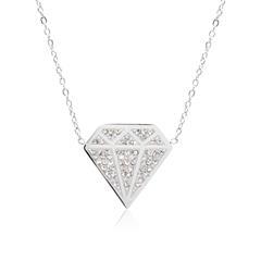 Kette Diamant aus Edelstahl mit Zirkonia