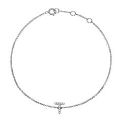 14ct. White Gold Bracelet, Diamond Set Letter Symbol