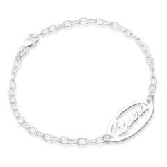 Namensarmband Silber individuelles Namensarmband