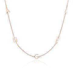 Namenskette aus 925er Silber, rosé, individualisierbar