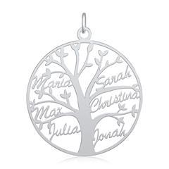 Lebensbaum Namensanhänger aus Sterlingsilber