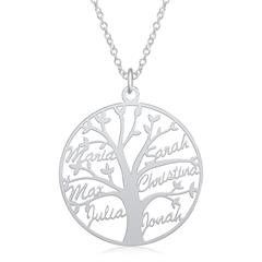 Tree Of Life Sterling Silver Name Chain