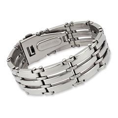 Modernes hochglanzpoliertes Armband Edelstahl
