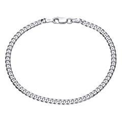 925 Silberarmband: Panzerarmband Silber 3mm
