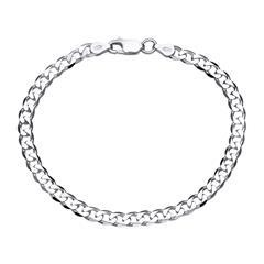 925 Silberarmband: Panzerarmband Silber 4,5mm