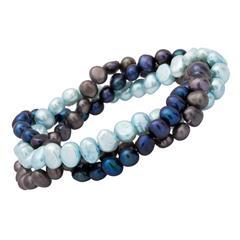 Elegantes Perlenarmband blautöne
