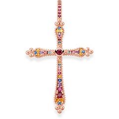 Kreuzanhänger Royalty 925er Silber rosé