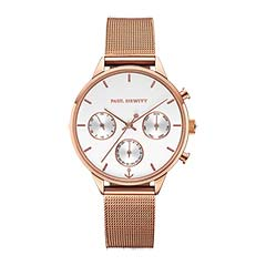 Armbanduhr Everpulse für Damen aus Edelstahl, rosé