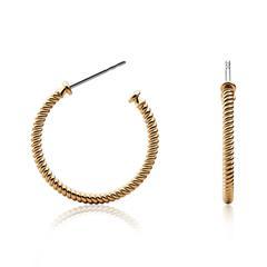 Ohrringe Rope Hoop aus Edelstahl ionenplattiert Gold