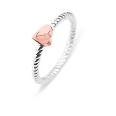 Ring Rope Anchor Love für Damen aus Edelstahl rosé