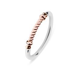 Portside Ring für Damen aus Edelstahl, teilweise rosé